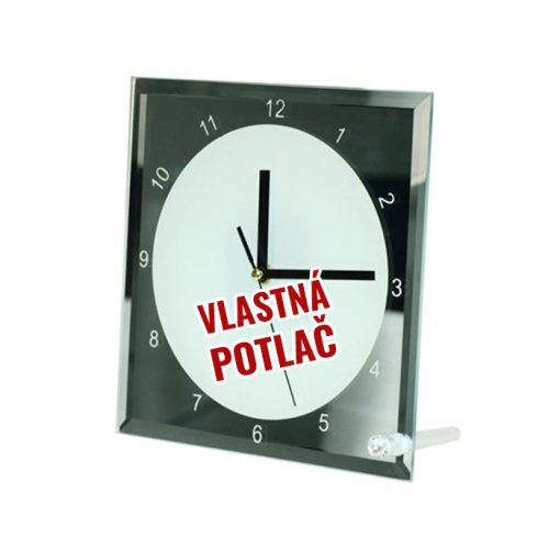 Stojanové sklenené hodiny s vlastnou fotkou