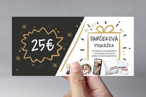 darčekový poukaz v hodnote 25€