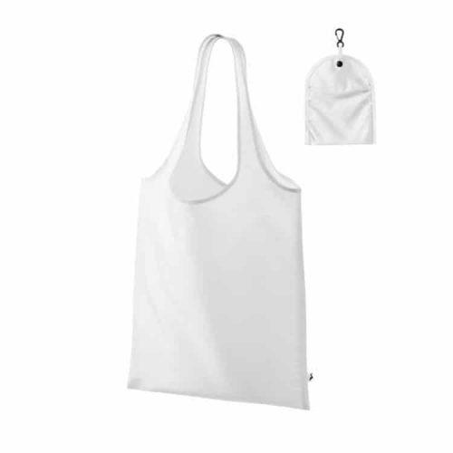 biela nákupná taška cez rameno s vlastnou potlačou